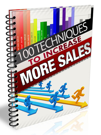 100 techniques to increase sales