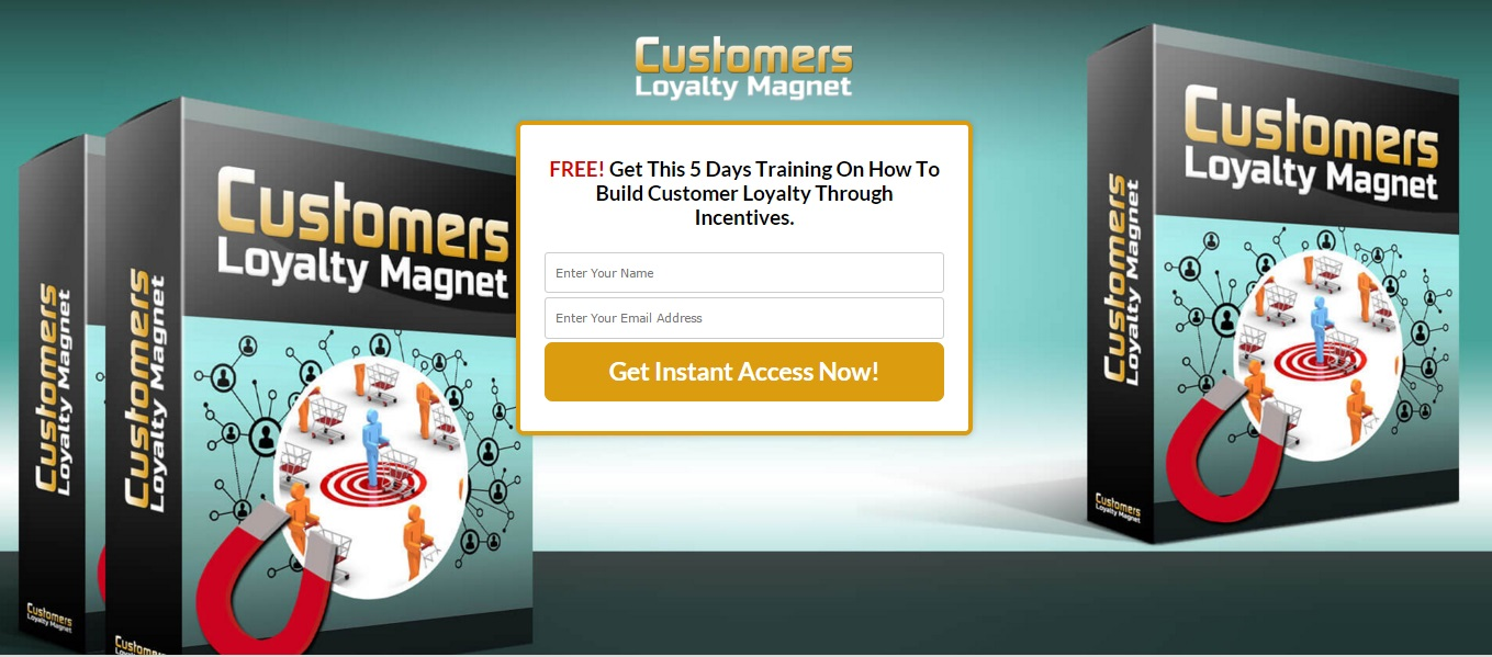 customer loyalty squeeze page
