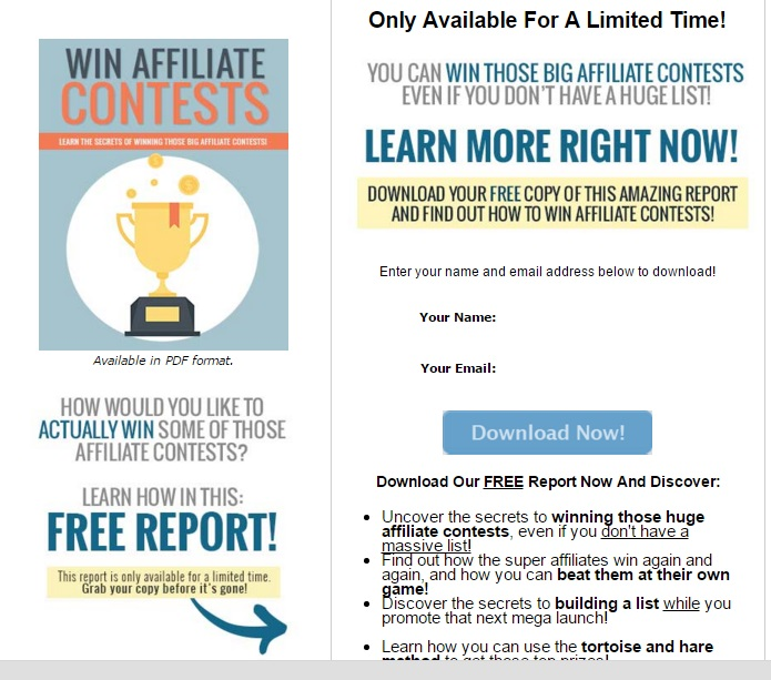 win affiliate contests opt in