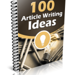 100 Article Writing Ideas (MRR eBook)