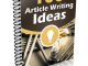 article writing ideas