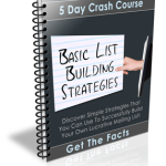 Basic List Building Strategies eCourse (5 Lessons)